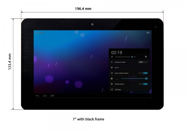 """7"""" black frame touch LCD"""
